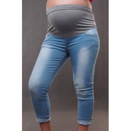 Tehotenské riflové nohavice 3 4 - velkosť L - Mamimodi.sk 6bc22f0792e