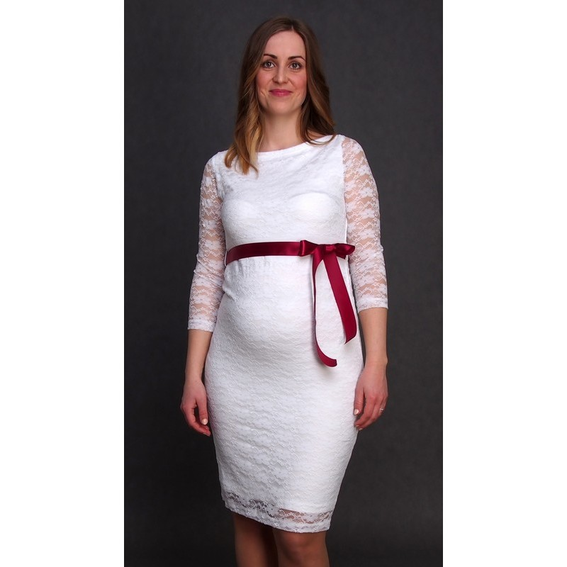 01de6d52d2 Čipkované svadobné šaty Silvia - ecru - Mamimodi.sk