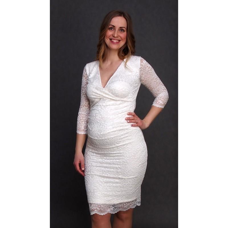 66088e847b89 Čipkované tehotenské svadobné šaty ecru  Čipkované tehotenské svadobné šaty  ecru