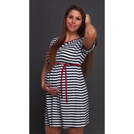 Letné tehotenské šaty pásikované - Mamimodi.sk 7bb92c38273
