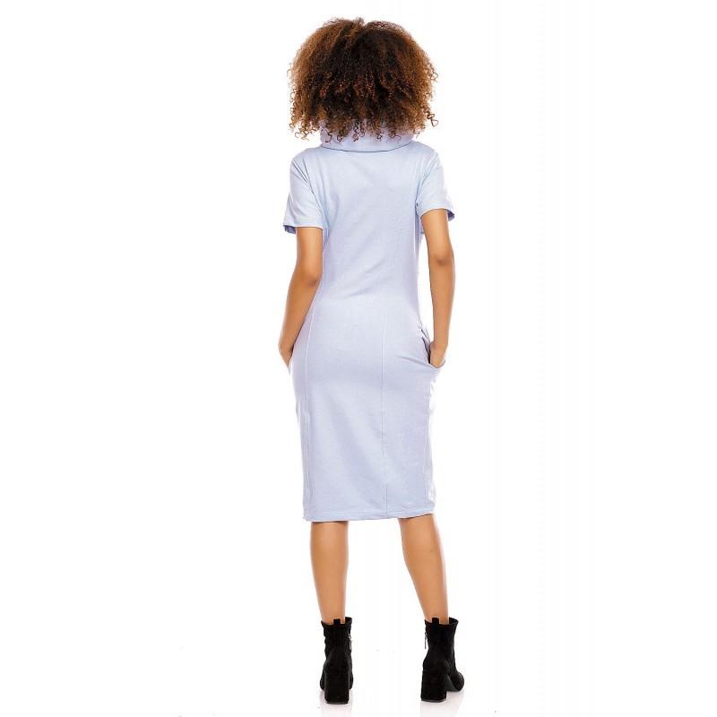 445d0257d656 Šaty pre tehotné a dojčiace ženy PeeKaBoo - svetlomodré - Mamimodi.sk