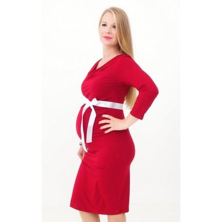 ae082c6db6dc Tehotenské šaty červené - Mamimodi.sk