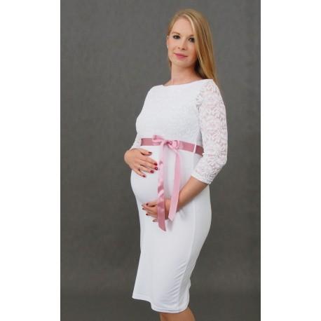 a3732d53cb43 Tehotenské svadobné šaty Silvia - biele - Mamimodi.sk