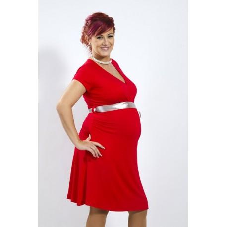 c919427ba482 Tehotenské šaty Vanda červené - Mamimodi.sk