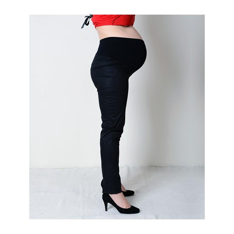 c162791cba Tehotenské elegantné nohavice čierne · Tehotenské elegantné nohavice čierne  ...