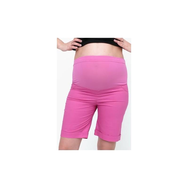 Tehotenské krátke nohavice ružové - Mamimodi.sk 6782d7014b9