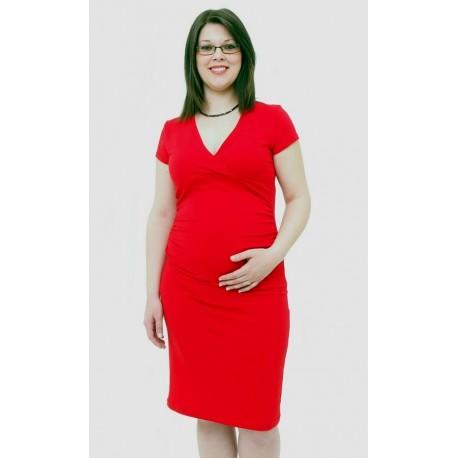a7b0625f4c8b Tehotenské šaty červené - Mamimodi.sk