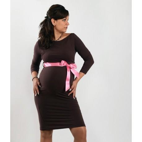 fcd15079fa4b Elegantné šaty s 3 4 rukávom - čierne - Mamimodi.sk