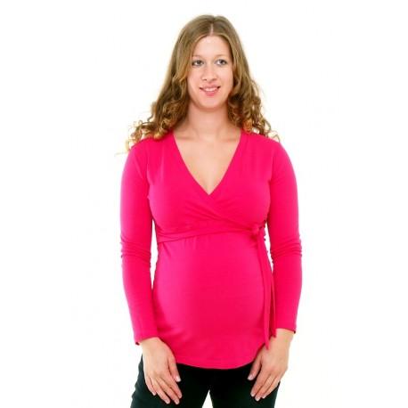 2332fff455e8 Tehotenské tričko ružové - Mamimodi.sk