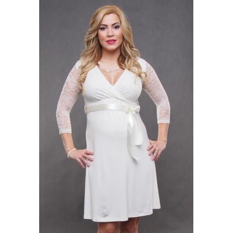 8aa2824c38 Tehotenské svadobné šaty Vanda - ecru - Mamimodi.sk
