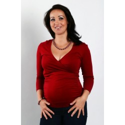 Tehotenské tričko červené