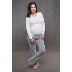 Tehotenské tepláky sivé