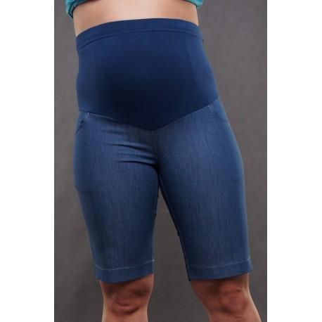 Tehotenské krátke nohavice - riflové