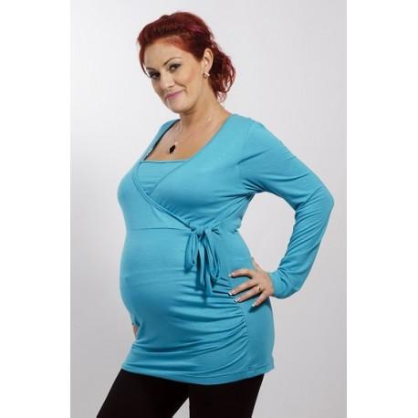 Tunika pre tehotné a pre dojciace ženy tyrkys