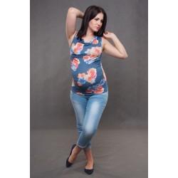 Tehotenské tričko bez rukávov