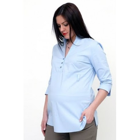 Tehotenská blúzka modrá