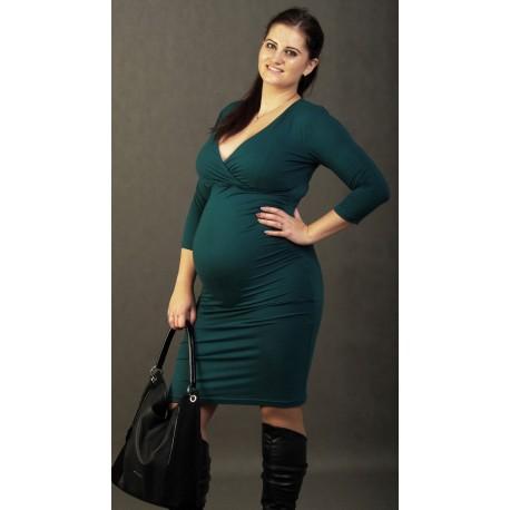 Tehotenské šaty zelené