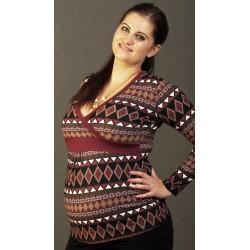 Tehotenské tričko - jesenný vzor