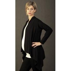 Tehotenský tenký sveter - čierny