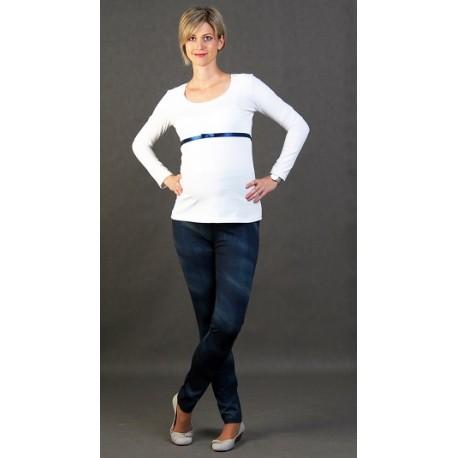 Tehotenské nohavice riflového vzhladu Renata