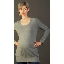 Tehotenská tunika sivá