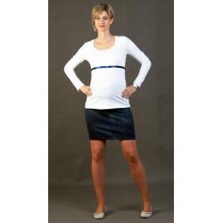 Tehotenská sukňa riflového vzhladu - tmavomodrá