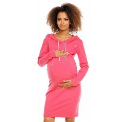 Tehotenské šaty PeeKaBoo - šedé