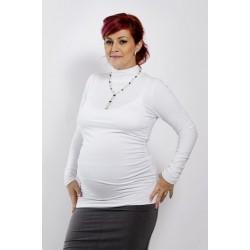 Tehotenský rolák biely