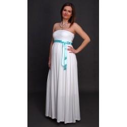 Tehotenské svadobné šaty dlhé