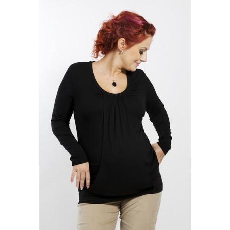 Tehotenská tunika čierna