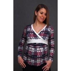 Vzorované tehotenské tričko
