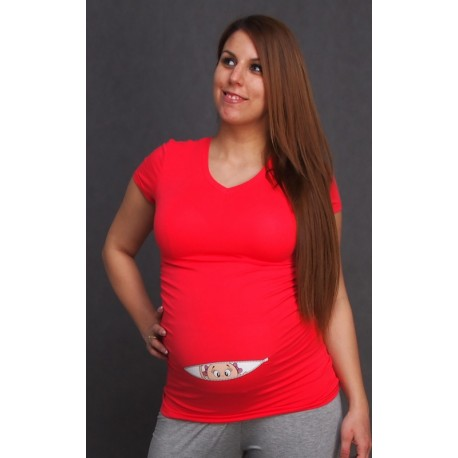 Tehotenské tričko s potlačou - 5 farieb