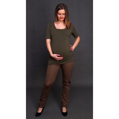 Tehotenské nohavice Renata slim - sivé