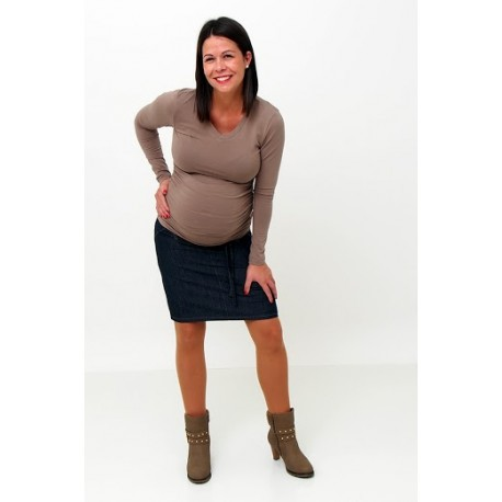Tehotenská riflová sukňa tmavomodrá