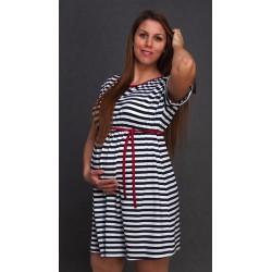 Letné tehotenské šaty pásikované