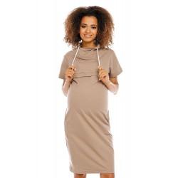 Šaty pre tehotné a dojčiace ženy PeeKaBoo - červené