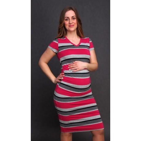 Tehotenské šaty pásikavé