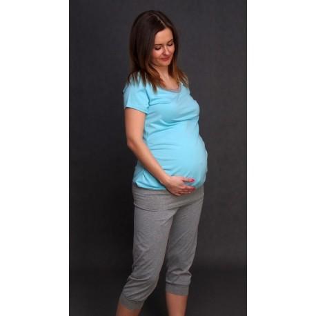 Tehotenské pyžamo tyrkys