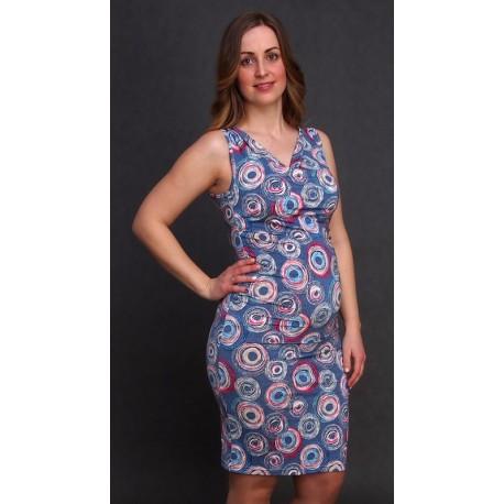 Tehotenské šaty bez rukávov