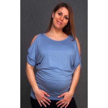 Tehotenská tunika modrá