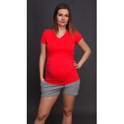 Teplákové tehotenské šortky - sivé