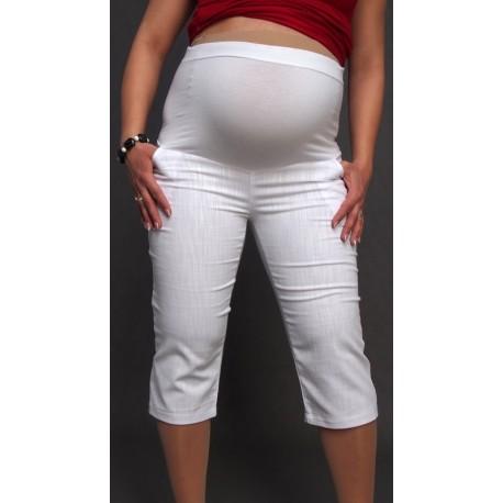 Tehotenské 3/4 nohavice biele
