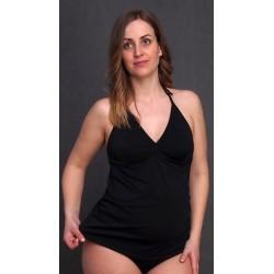Tehotenské plavky čierne