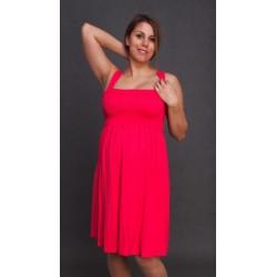 Letné tehotenské šaty ružové