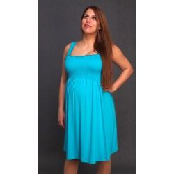 Letné tehotenské šaty tyrkys