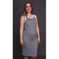 Námornícke tehotenské šaty