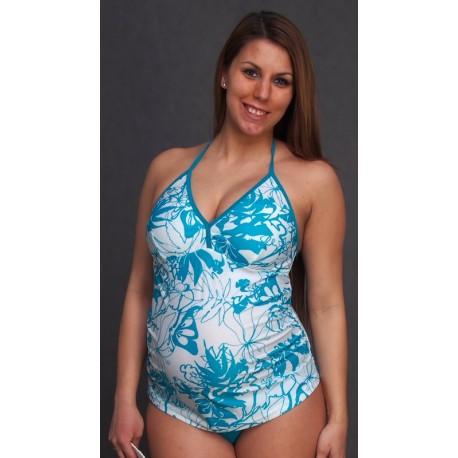 Tehotenské plavky tyrkys