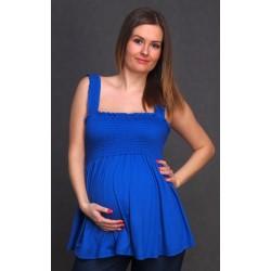 Letná tehotenská tunika modrá