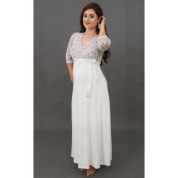 Dlhé tehotenské svadobné šaty Vanda