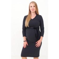 Tehotenské šaty s výstrihom do V